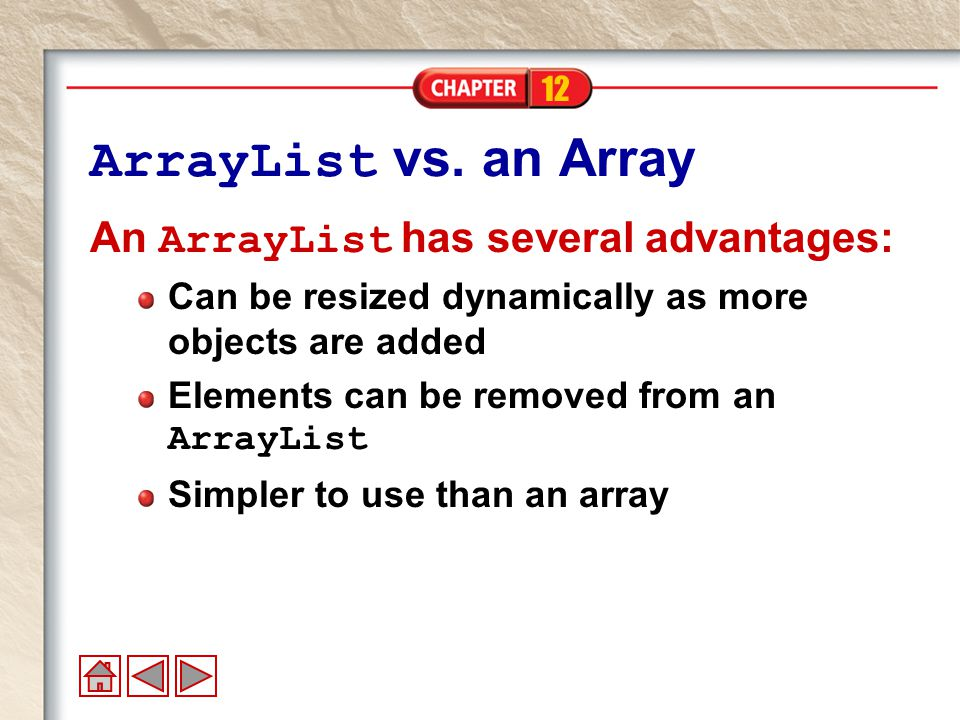 12 ArrayList vs.