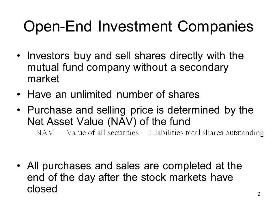 30 Types of Mutual Funds Index Funds: buys and holds a portfolio of stocks (or bonds) equivalent to those in a specific market index –Objective is to match, not beat, the specific index –Strategy is buy-and-hold, which provides tax advantages with very little taxable capital gains –Operating costs are very low due to low turnover in investment portfolio