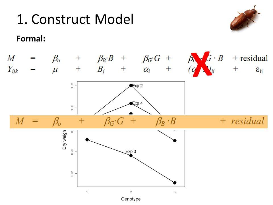 1. Construct Model Formal: X