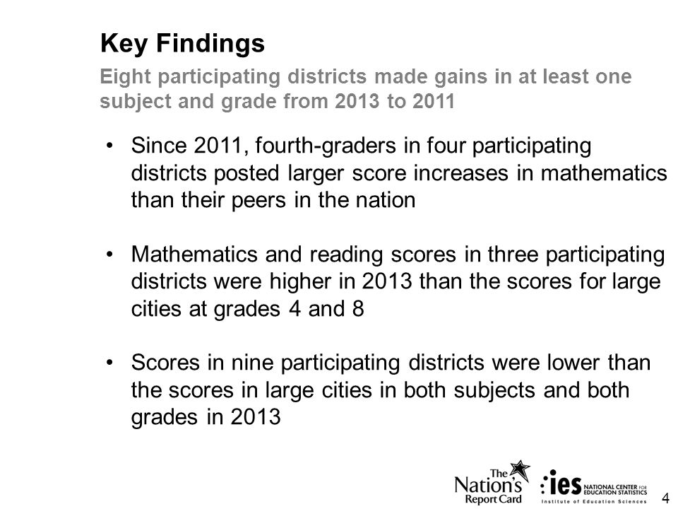 Most participating districts scored higher 2011-2013 5