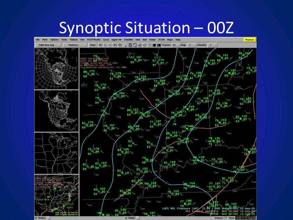 Synoptic Situation – 00Z