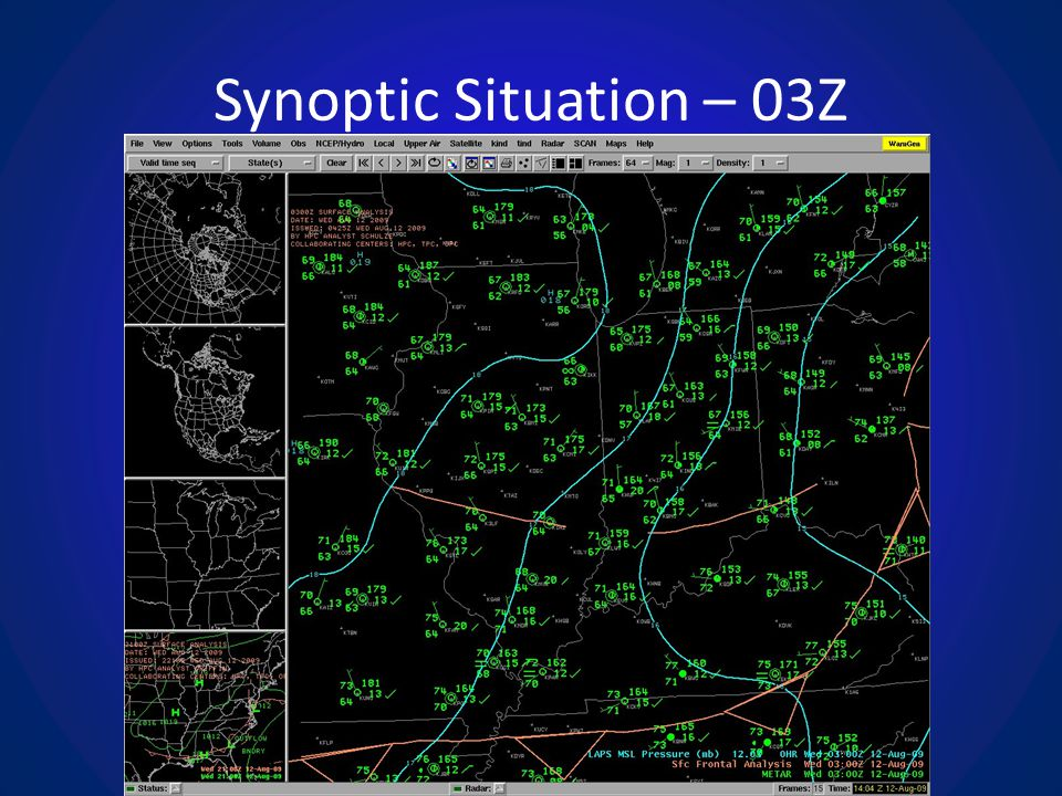 Synoptic Situation – 03Z