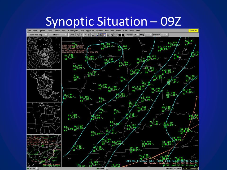 Synoptic Situation – 09Z