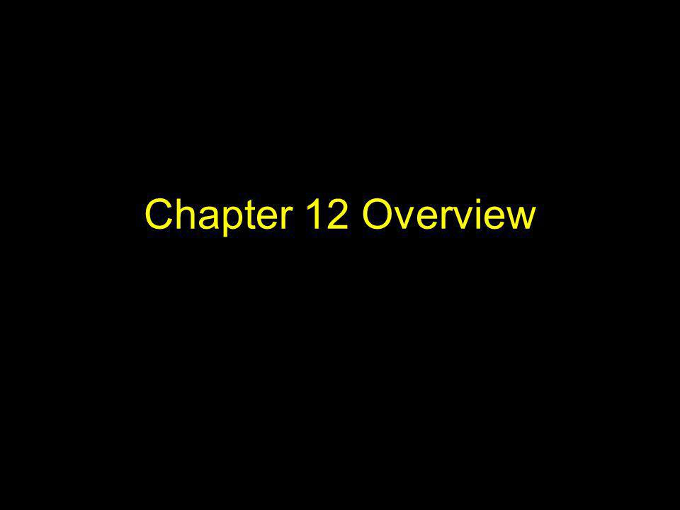 Chapter 12 Overview