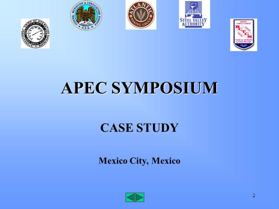 2 APEC SYMPOSIUM CASE STUDY Mexico City, Mexico