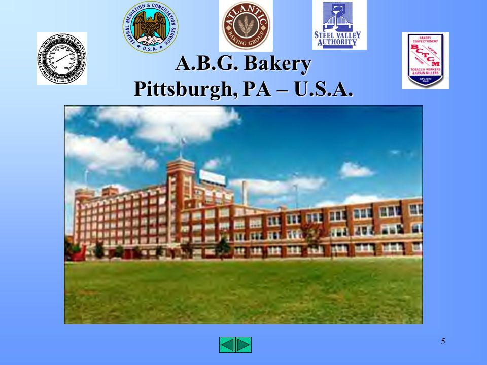 5 A.B.G. Bakery Pittsburgh, PA – U.S.A.