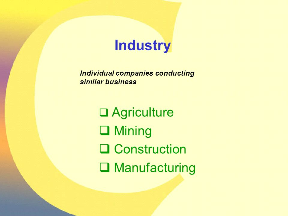 Of Colorado's 10 fastest-growing industries thru 2012 2 are health related, 2 are transportation related and 2 are manufacturing related.