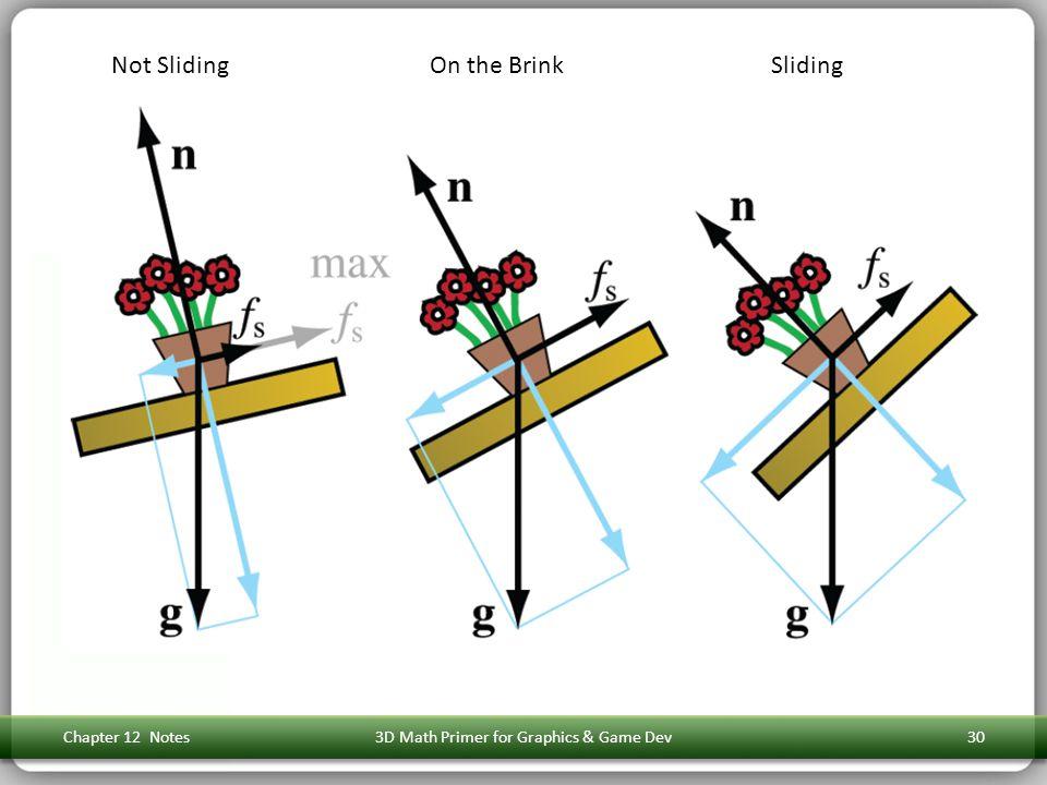 Chapter 12 Notes3D Math Primer for Graphics & Game Dev30 Not SlidingOn the BrinkSliding