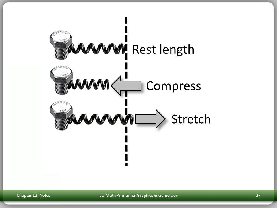 Chapter 12 Notes3D Math Primer for Graphics & Game Dev37 Rest length Compress Stretch