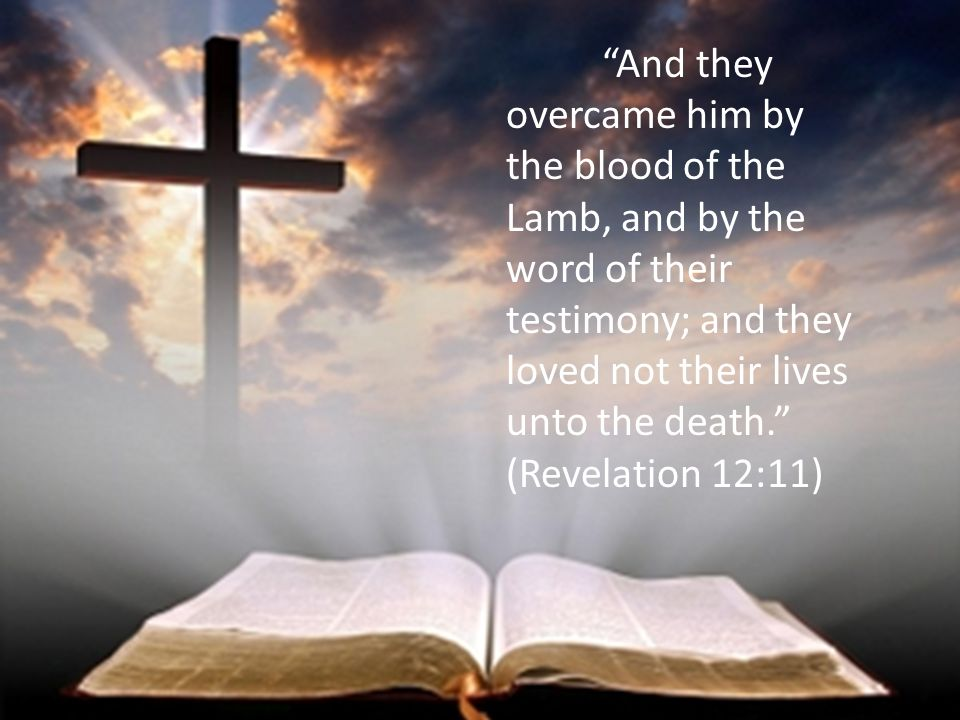 And they overcame him by the blood of the Lamb, and by the word of their testimony; and they loved not their lives unto the death. (Revelation 12:11)