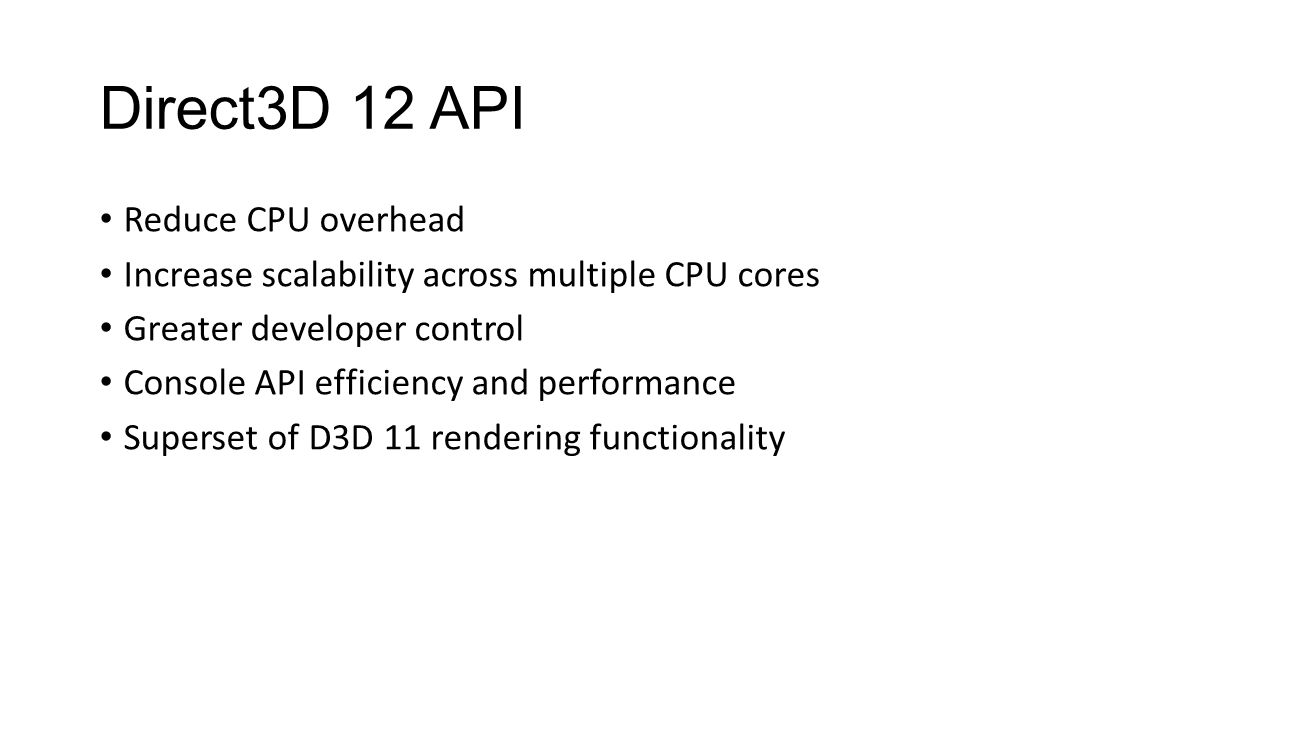 Thanks Game Developers Futuremark Hardware Vendors AMD Intel nVidia Qualcomm Microsoft Direct3D Team Windows Graphics and Partner Teams