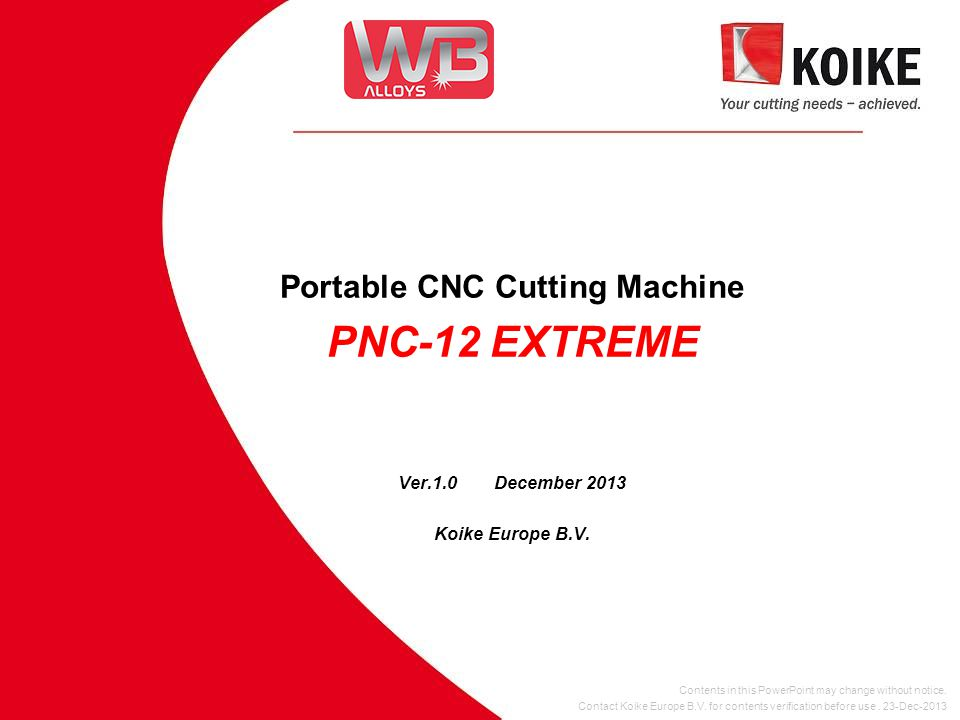 PNC-12 EXTREME introduction  Portable CNC Cutting Machine , with integrated CNC controller.