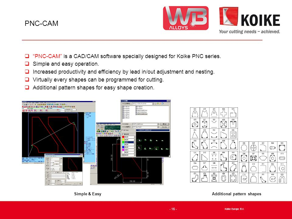 PNC-CAM  PNC-CAM is a CAD/CAM software specially designed for Koike PNC series.