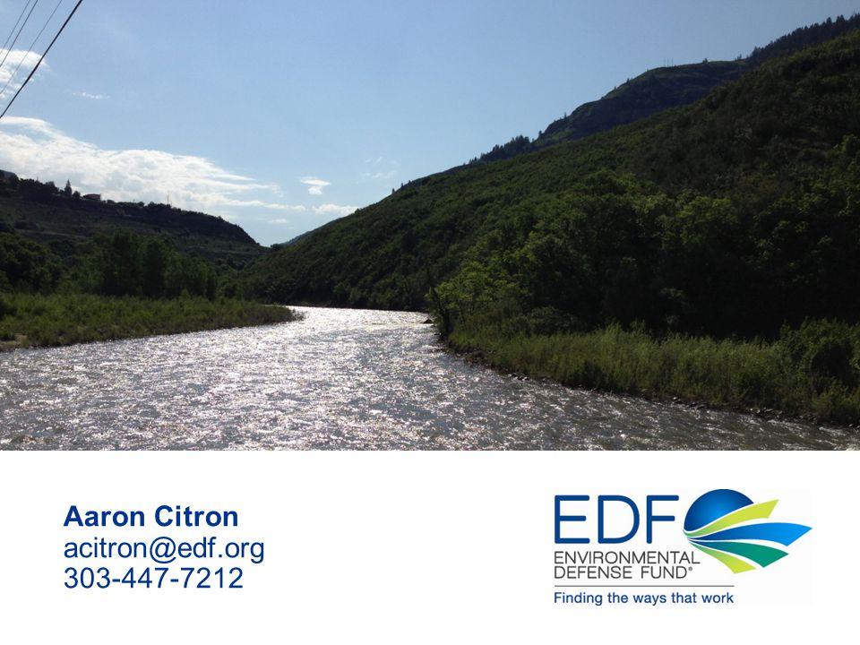 Aaron Citron acitron@edf.org 303-447-7212