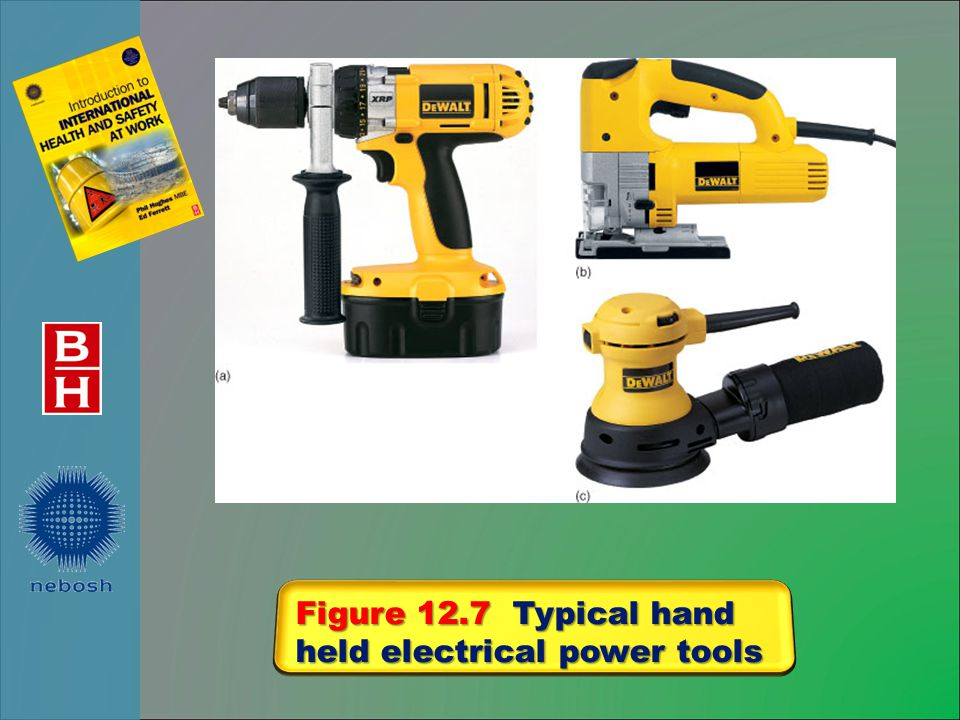 Figure 12.7 Typical hand held electrical power tools