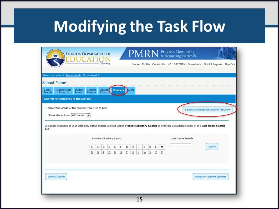 Modifying the Task Flow 15
