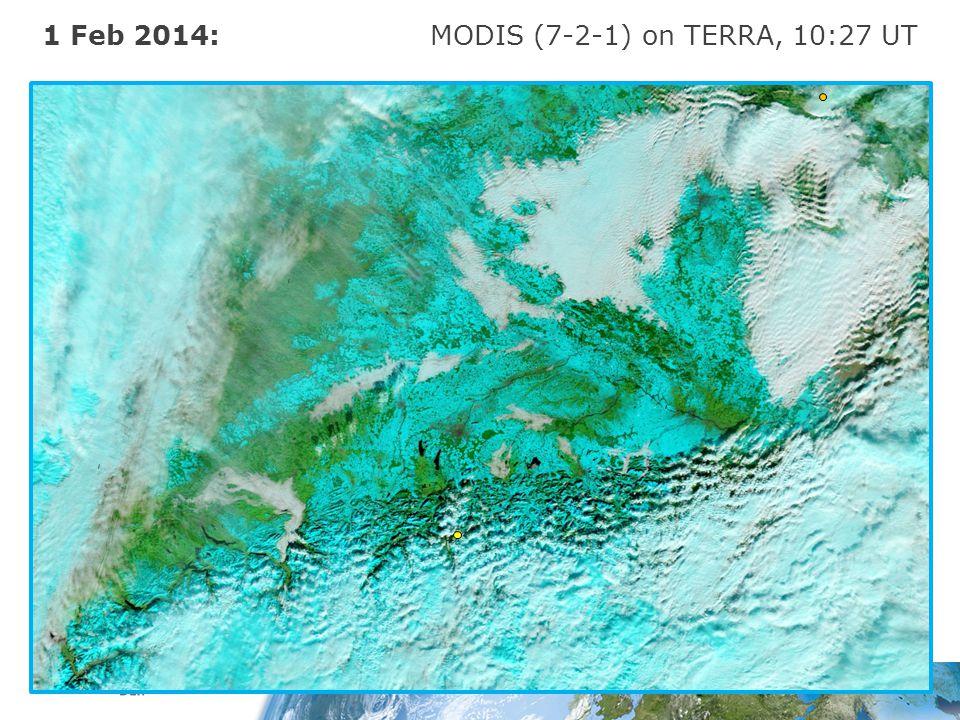 1 Feb 2014: MODIS (7-2-1) on TERRA, 10:27 UT