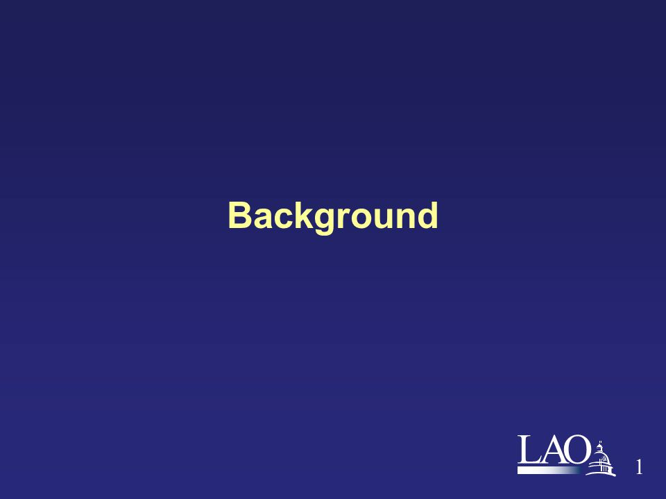 LAO 1 Background