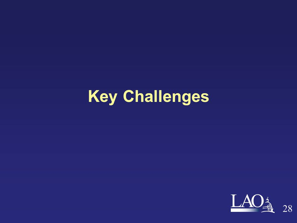 LAO 28 Key Challenges