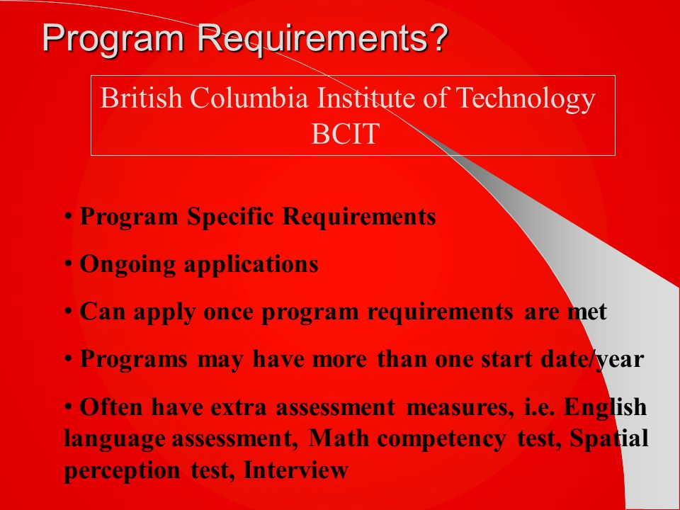 Program Requirements.