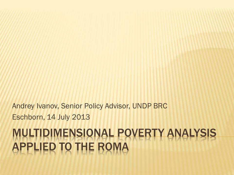 Andrey Ivanov, Senior Policy Advisor, UNDP BRC Eschborn, 14 July 2013