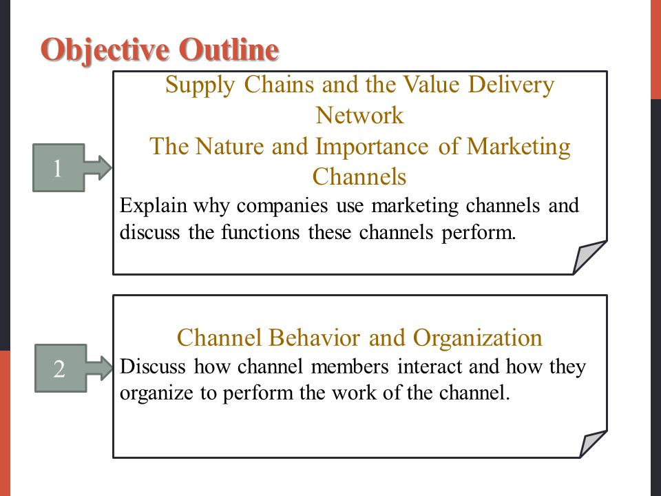 3 Channel Design Decisions Identify the major channel alternatives open to a company.