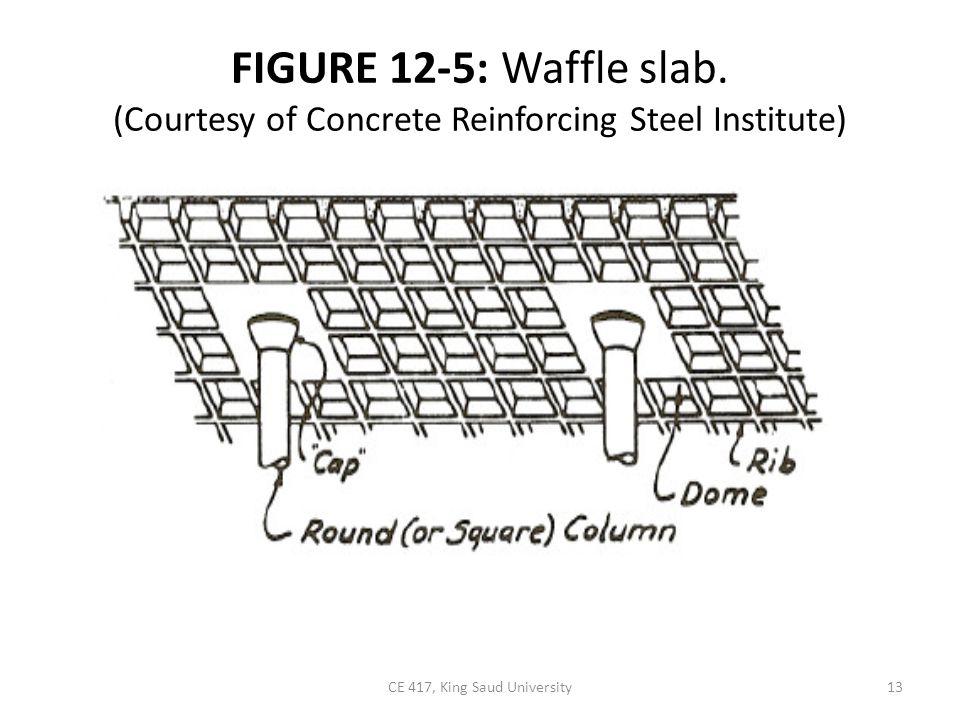 FIGURE 12-5: Waffle slab. (Courtesy of Concrete Reinforcing Steel Institute) 13CE 417, King Saud University