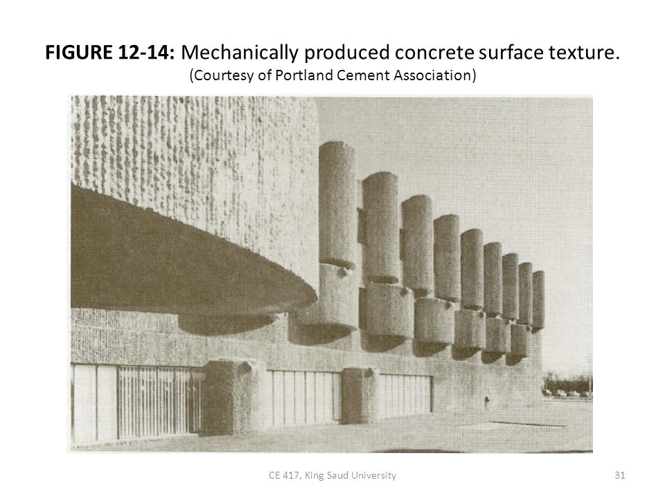 FIGURE 12-14: Mechanically produced concrete surface texture.
