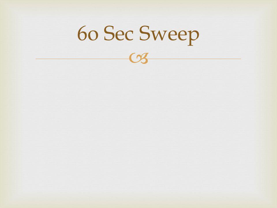 6o Sec Sweep