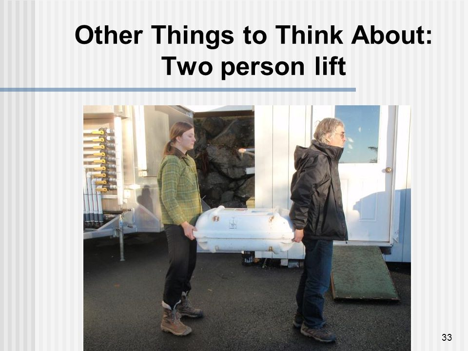 Other Things to Think About: Two person lift 33