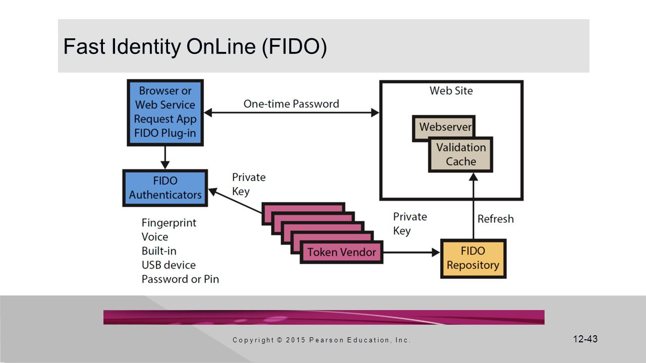 12-43 Fast Identity OnLine (FIDO) Copyright © 2015 Pearson Education, Inc.