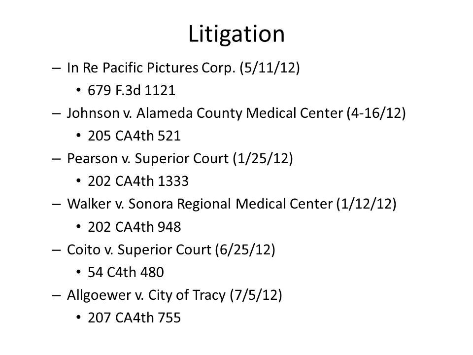 Litigation – In Re Pacific Pictures Corp. (5/11/12) 679 F.3d 1121 – Johnson v.