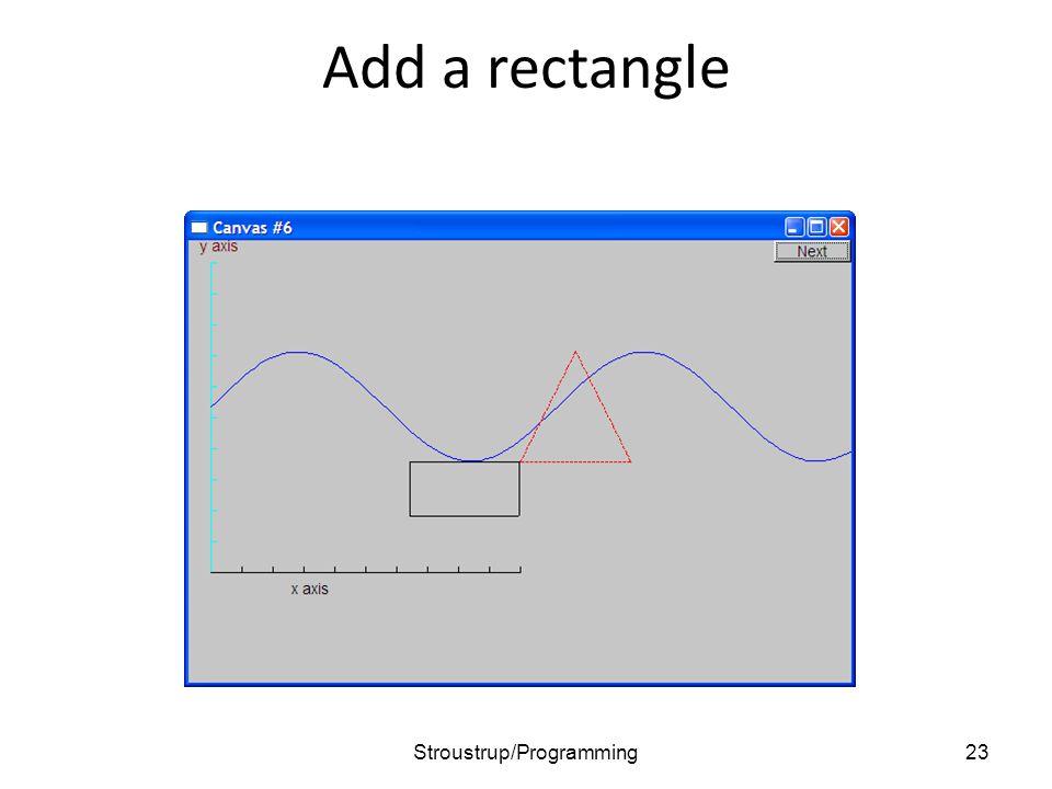 Add a rectangle 23Stroustrup/Programming