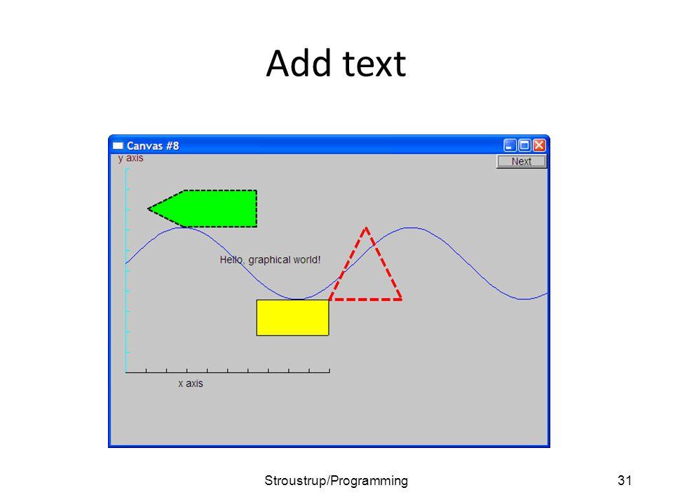 Add text 31Stroustrup/Programming