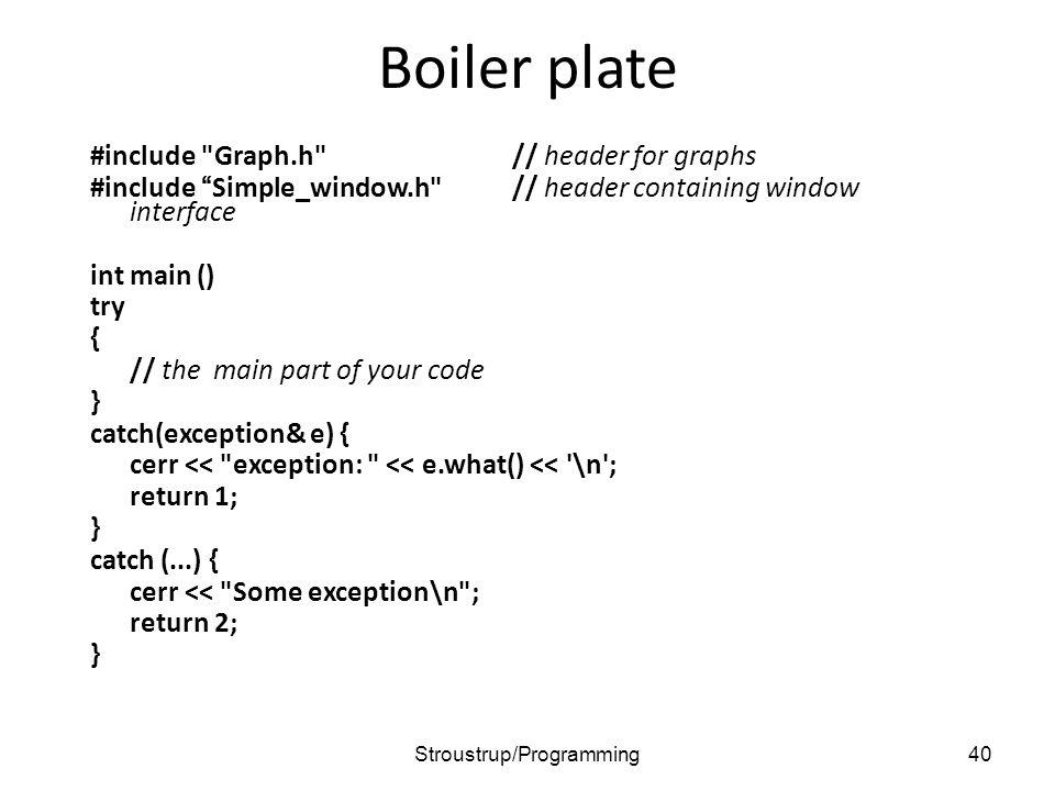 Boiler plate #include