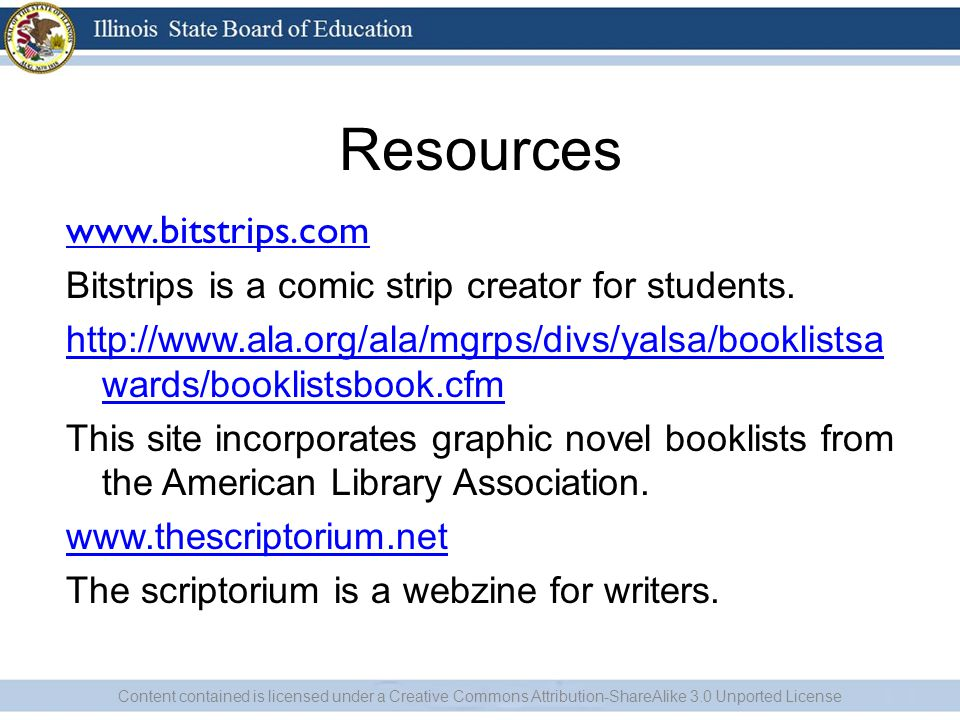 Resources www.bitstrips.com Bitstrips is a comic strip creator for students.