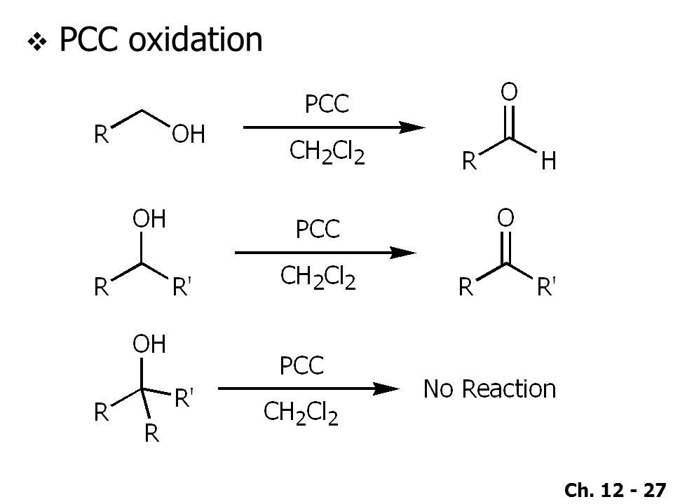Ch. 12 - 27  PCC oxidation