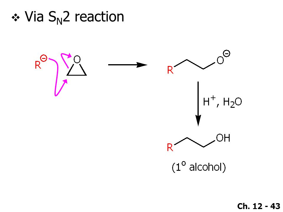 Ch. 12 - 43  Via S N 2 reaction