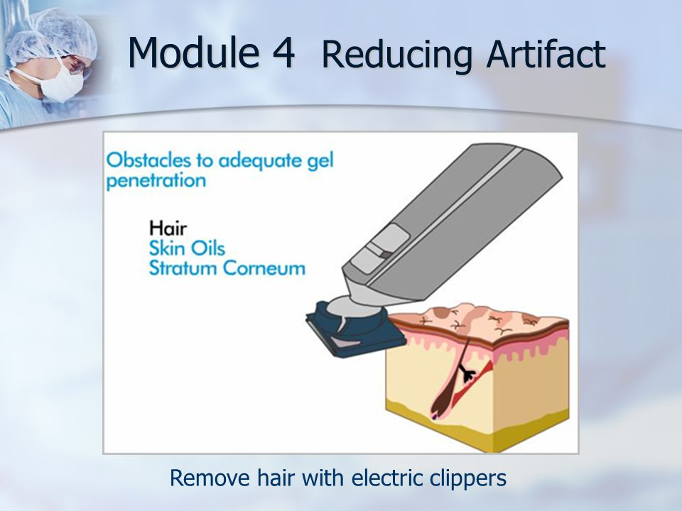 Remove hair with electric clippers