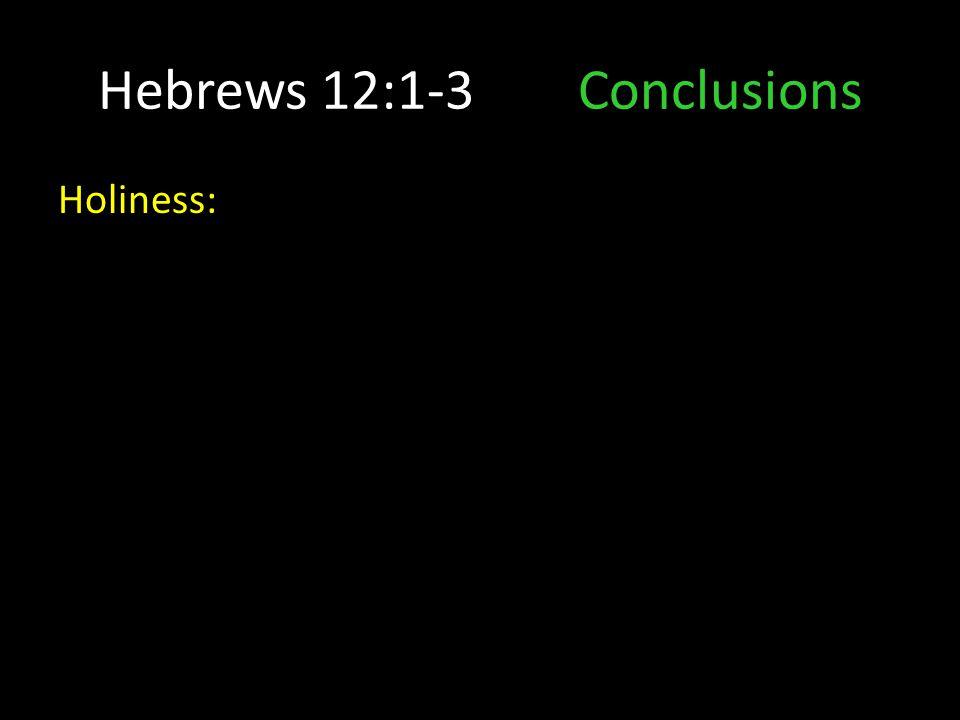 Holiness: