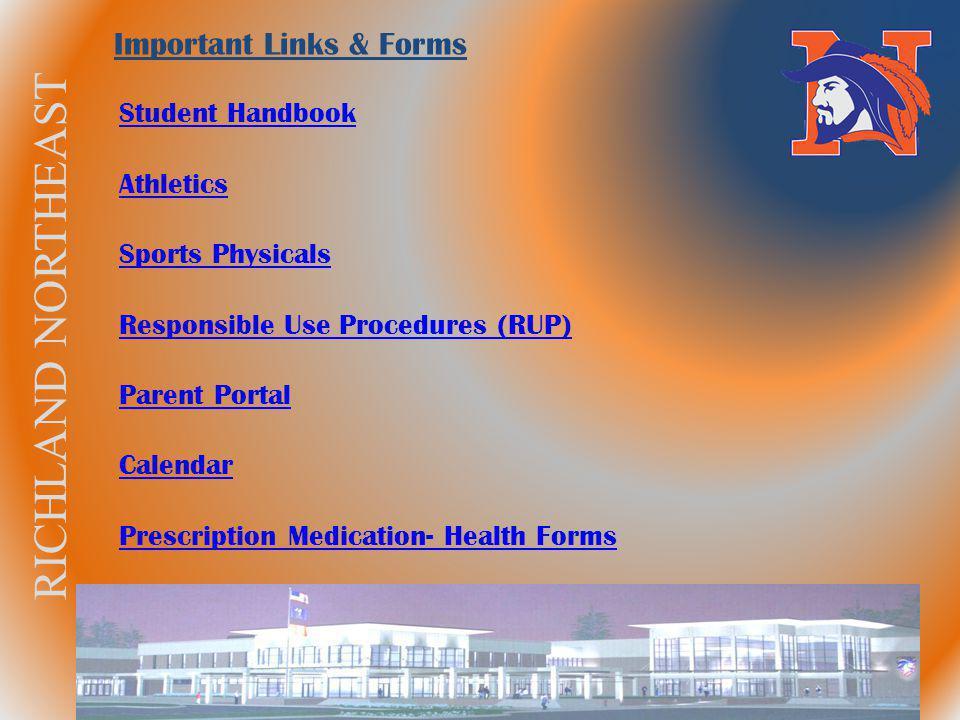 RICHLAND NORTHEAST Important Links & Forms Student Handbook Athletics Sports Physicals Responsible Use Procedures (RUP) Parent Portal Calendar Prescri