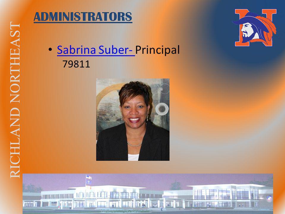 RICHLAND NORTHEAST Sabrina Suber- Principal Sabrina Suber- 79811