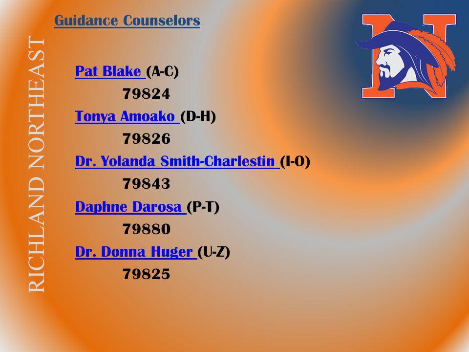 RICHLAND NORTHEAST Pat Blake Pat Blake (A-C) 79824 Tonya Amoako Tonya Amoako (D-H) 79826 Dr. Yolanda Smith-Charlestin Dr. Yolanda Smith-Charlestin (I-