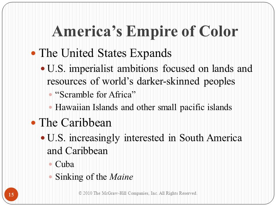 """America's Empire of Color The United States Expands U.S. imperialist ambitions focused on lands and resources of world's darker-skinned peoples """"Scram"""