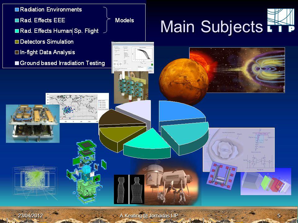 23/04/2012A.Keating @ Jornadas LIP5 Main Subjects
