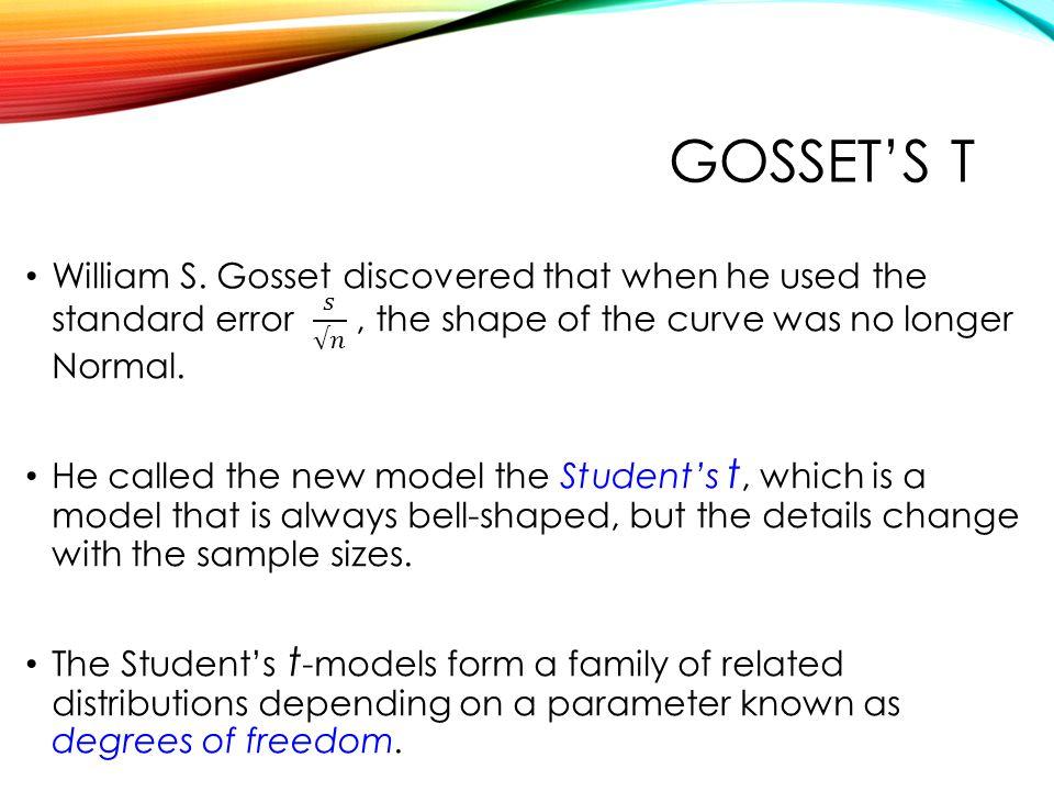 GOSSET'S T