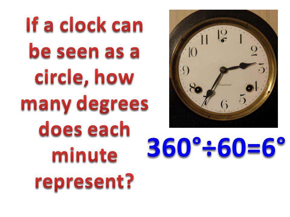 360°÷60=6°