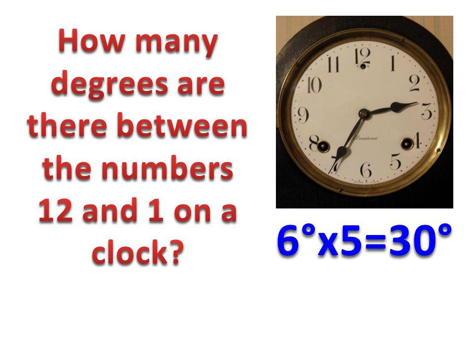 6°x5=30°