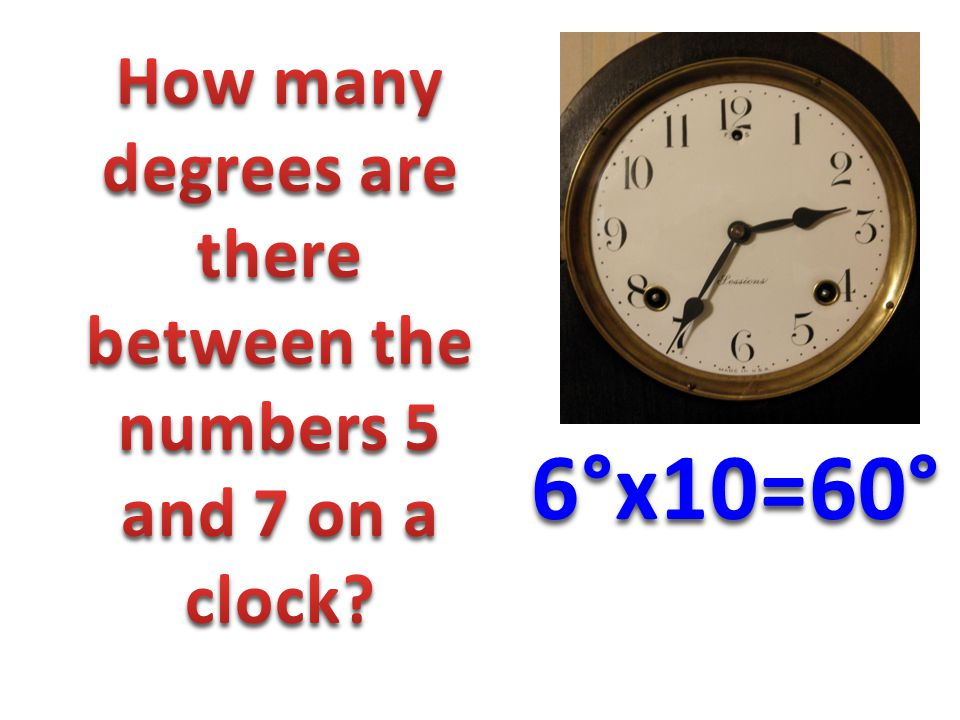 6°x10=60°