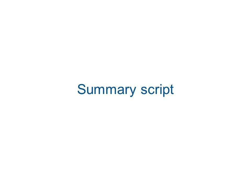 Summary script